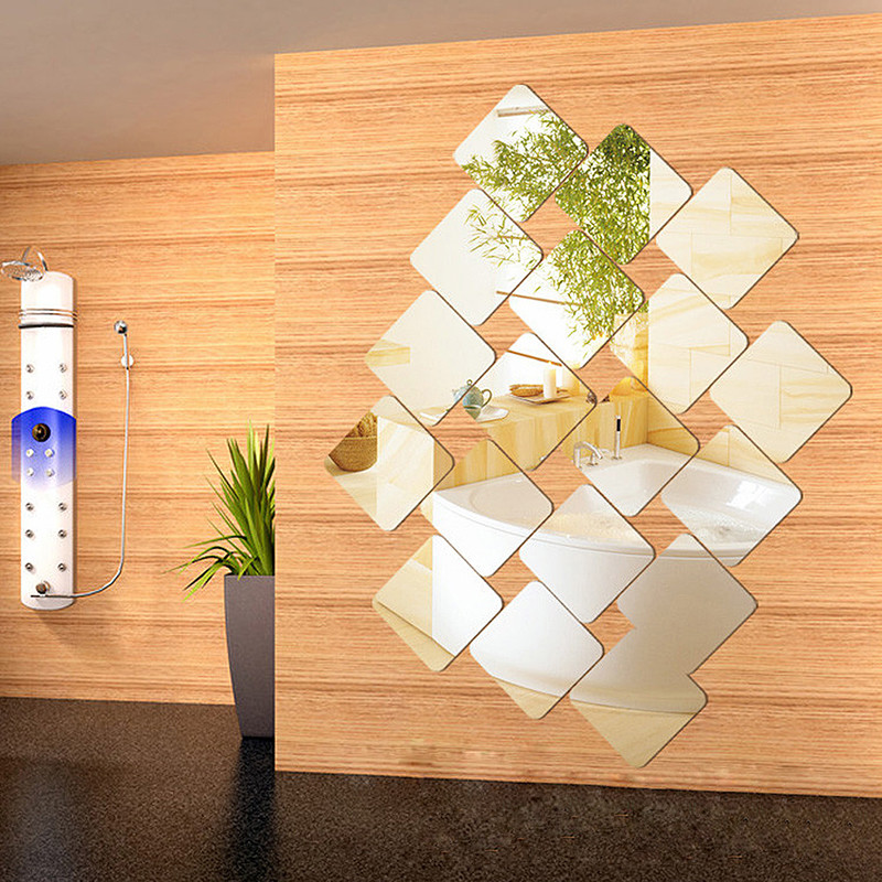 2017 4pcs/Set Wallpapers Acrylic Wall Decor Square 3D Acrylic Wall ...