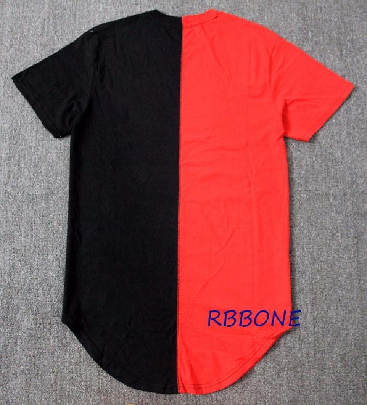 8156e727e061 2018 Half black white New Designer Men Summer Dress Tee Tshirt Hip Hop  Street Fashion Casual Short Sleeve T shirt-in T-Shirts from Men s Clothing  on ...
