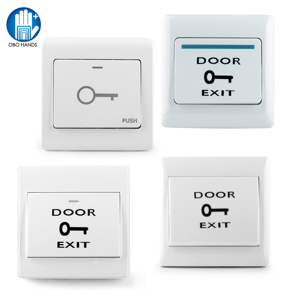 OBO Hands Fireproof Plastic Door Exit Button Release Emergency Push Switch For Entry Access Control System For All Electric Lock