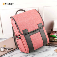 YINUO Women Back Anti Theft Backpack 14inch 15inch Laptop Backpack Waterproof High Capacity For Teenager Male Shool Bag Travel