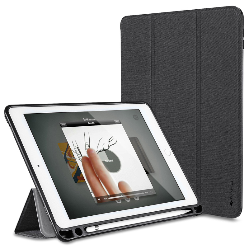 For Apple IPad Pro 10 5 Case PU Leather Slim Smart Cover With Pencil Holder Auto