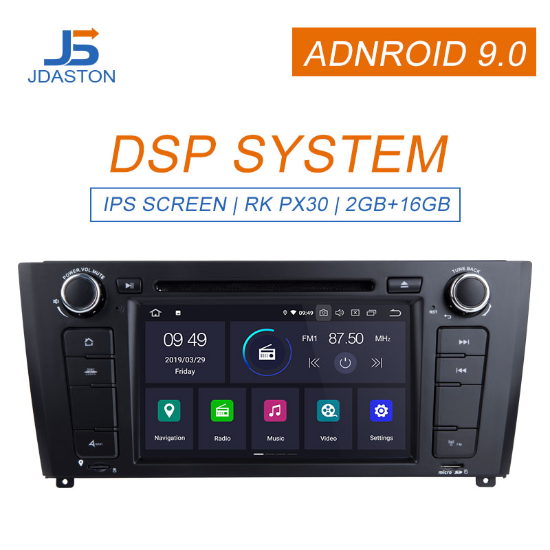 JDASTON Android 9.0 Car DVD Player For BMW 1 Series E81/E82/E88 2004-2011 GPS Navigation Multimedia Stereo 1 Din Car Radio IPS image