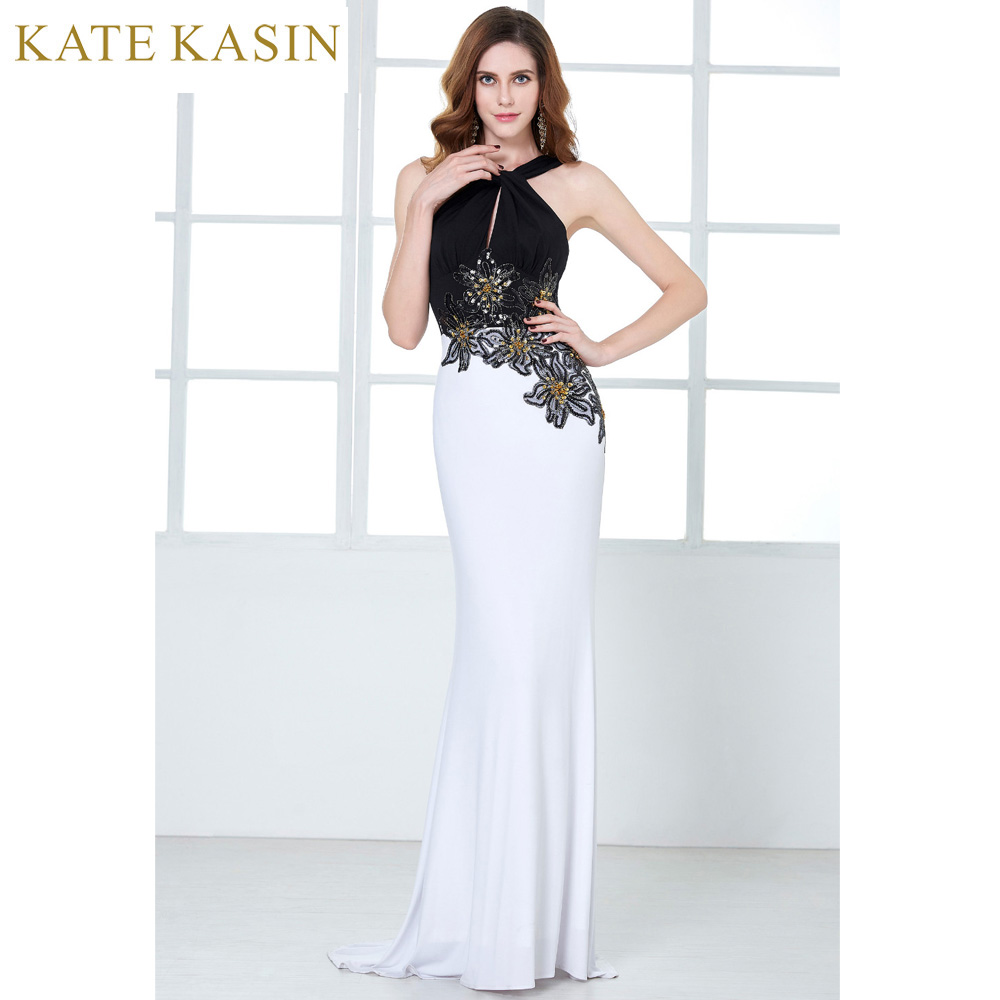 Popular Black White Evening Dress-Buy Cheap Black White Evening ...
