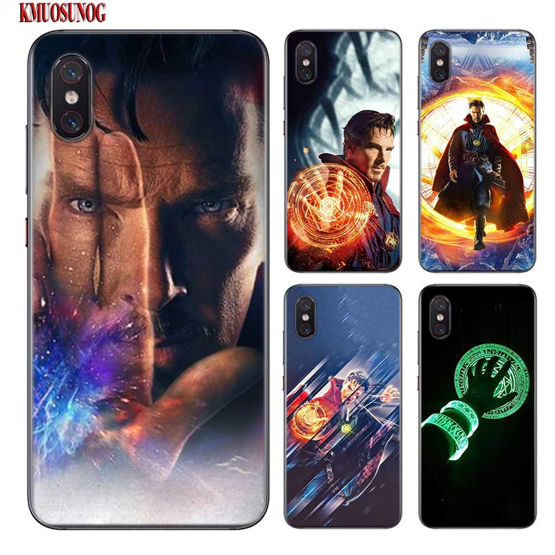 Black Silicon Phone Case Avengers Doctor Strange For Xiaomi 9 8 A1 5x A2 6x Redmi Note 7 S2 4 4x 5 5a 6 6a Pro Lite Cover Fitted Cases