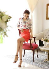 Floral Women Blouses Fall Fashion Big Size Thin Long-Sleeved Shirt Lady Long-Sleeved Wild Bottoming Slim Career Shirts TopsC458