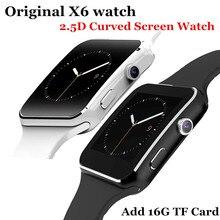 2016 neue bluetooth smart watch x6 smartwatch sport uhr für apple iphone android-handy mit kamera fm unterstützung sim karte P130