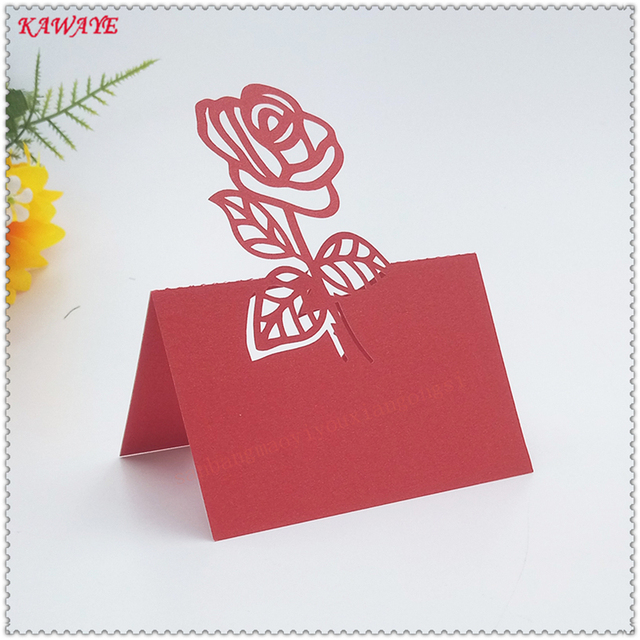 100pcs hollow out pearlescent paper sculpture rose flower table card 100pcs hollow out pearlescent paper sculpture rose flower table card wedding seat card invitation letter greeting stopboris Choice Image