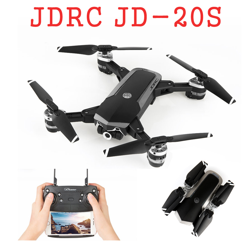 JDRC JD-20S JD20S WiFi FPV Foldable Drone 2MP HD Camera With 18mins Flight Time RC Quadcopter RTF VS JD20 jdrc jd20 jd 20 jd 20 new version rc drone quadrocopter spare parts engines motor blades main gear propeller guard