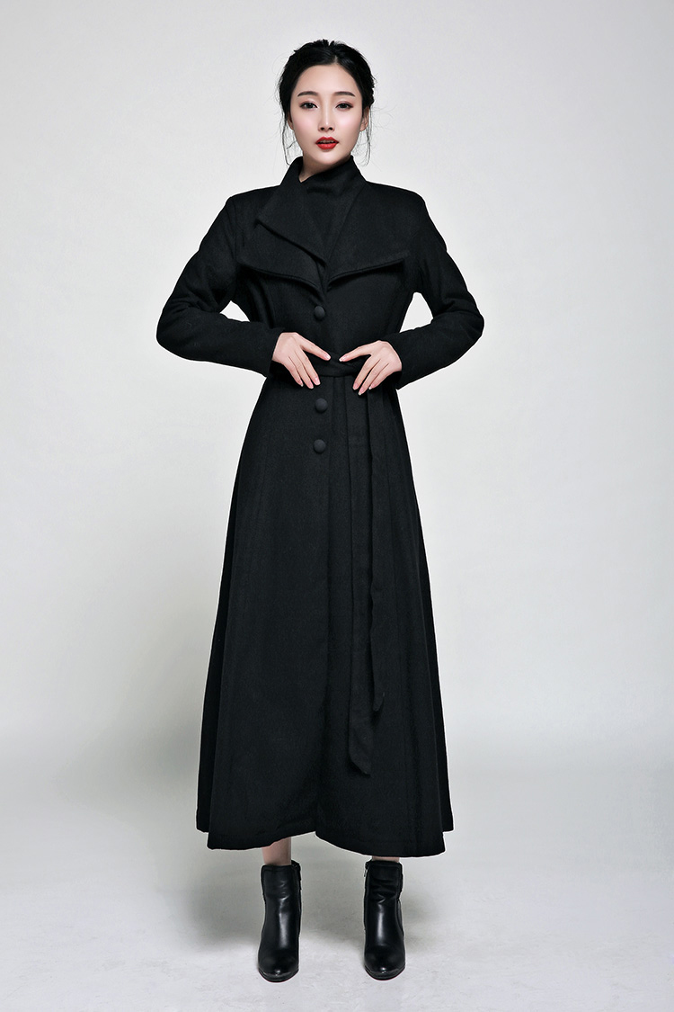 Online Buy Wholesale long black coats for women from China long ...