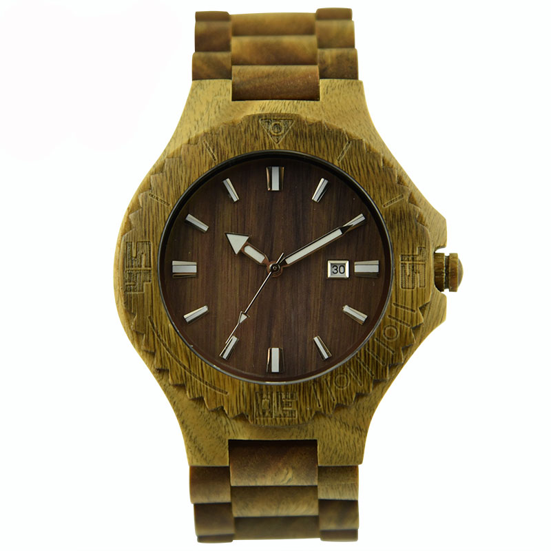 DWG Analog Retro Verawood Quartz Men's Watches Luxury Brand Watch for Men Wood Wristwatch Date Solid Wooden Strap Hand Clock dwg analog luxury wood watch for women newest quartz watch maple walnut wooden wrist watch for girls orologi donna reloj mujer