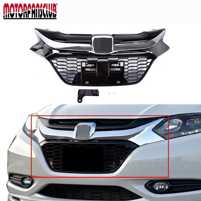 Fit For Honda Civic 10th 4DR 2016-17 Chrome Front Hood Grill Grille Cover Trim