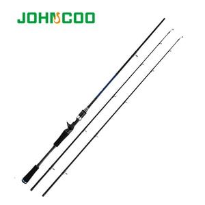 Image 3 - Johncoo fundição fiação vara de pesca 1.8m 2.1m 2.4m potência m mh haste de carbono pólo 2 seção fibra arremesso vara de pesca