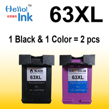 2pcs Black Ink Cartridge for HP63XL HP 63 63xl HP63 CH561ZZ 561 for HP Deskjet 1110 1111 1112 2130 2131 2132 3630 4250 Printer(China)