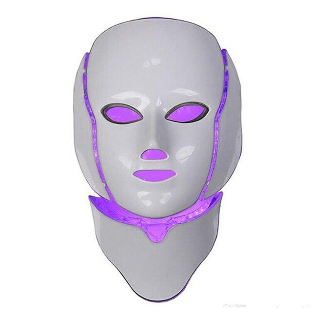 Korean LED Photodynamic Masks 7 Colors Lights LED Photodynamic Facial Mask Home Use Beauty Equipment Anti-acne Skin Rejuvenation 4