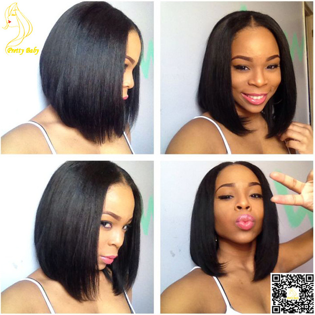 Virgin Brazilian Hair U Part Wig Bob Glueless Human Hair Wigs Upart