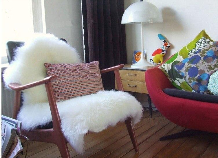 Tapis respectueux de l'environnement véritable véritable tapis en peau de mouton couleur blanche australie tapis de laine chambre tapis de fourrure salon tapis de chevet