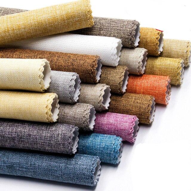 Сплошной равномерный цвет льняные обои из ткани десять простые современные для гостиной спальни роскошные обои для стен водонепроницаемое настенное украшение