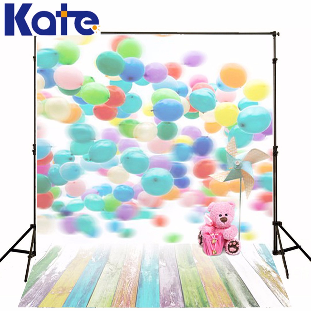 KATE Backdrops Balloon Background Vintage Wood Backdrop Toy Bear Background Baby Photography Backdrops for Children Photo Shoot kate dry land photography backdrops land photography background retro children custom backdrop props for newborn photo shoot