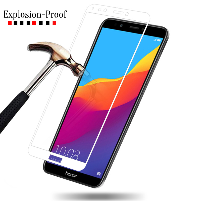 3pcs Full Cover Tempered Glass for Huawei Honor 7A Pro AUM AL29 7A 5 45 quot for Honor 7C AUM L41 5 7 quot 7C Pro Screen Protector Sklo in Phone Screen Protectors from Cellphones amp Telecommunications