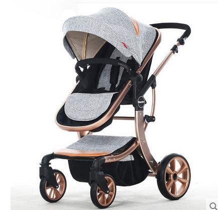 Fu infant stroller high landscape can sit or lie four shock absorbers folding stroller strollers lime purpfree deliveryle red