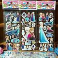 3 Листов Не Повторять Лихорадка Анна Эльза Наклейки Детский Мультфильм 3D Наклейки Снежная Королева Принцесса Дети Детские Детские Игрушки День Рождения подарок