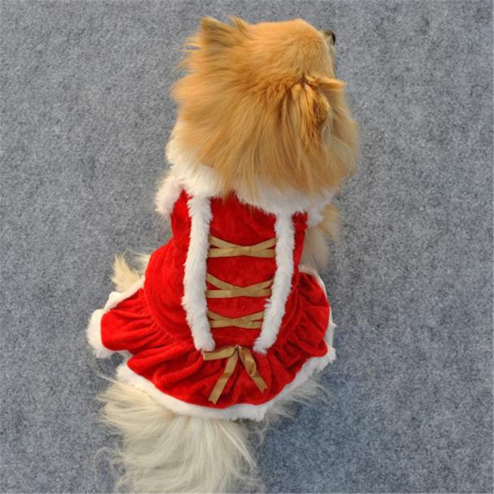 Christmas Dog Costumes.Xs S M L Red Christmas Dog Clothes Santa Doggy Costumes Clothing Pet Apparel New Design 02