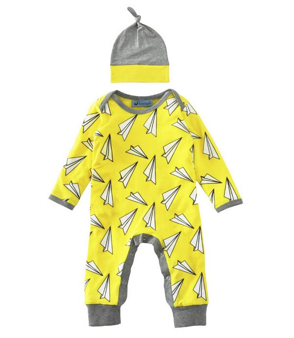0d2450417 4pcs/lot girls jumpsuit kids clothes children clothing paper plain fashion  boys romper with Caps 1101 sylvia 541043148387-in Rompers from Mother & Kids  on ...