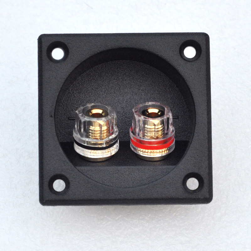 Two Speaker Junction Box Connector Plug Terminal,Stereo Panel Socket,Speaker DIY Accessories,Pure Copper Gold-plated yhlz 8 terminal junction modules term mod mr li