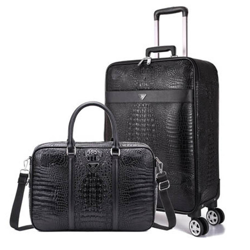 "Luxury Travel Suitcase set Rolling Spinner Luggage Women Trolley case with Wheels Man 20"" boarding box carry on Travel Bag Trunk"