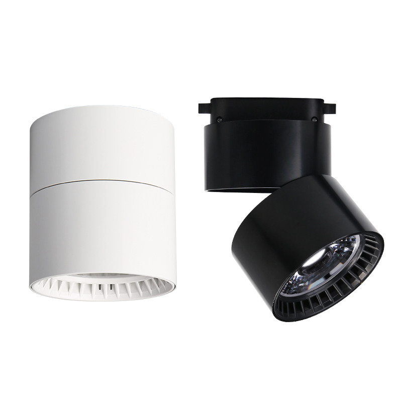 Surface Mounted Mini Embedded COB LED Downlights 5W 7W 10W 360 degree rotation LED Ceiling Lamp Spot Light Downlight AC85-265V 10w 15w 20w 30w 50w cob led downlights surface mounted ceiling spot light 360 degree rotation ceiling downlight white ac85 265v