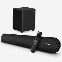 100 واط TV SoundBar 2.1 سماعة لاسلكية تعمل بالبلوتوث المتكلم نظام مسرح منزلي شريط الصوت ثلاثية الأبعاد التحكم عن بعد المحيطي مع جدار جبل