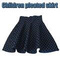 Осень зима синий трикотажная юбка девушки вспыхнул принцесса пачки девушка детской одежды для детей детской одежды из