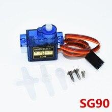 100 sztuk SG90 9g Mini mikro serwo dla RC dla RC 250 450 helikopter samolot samochód