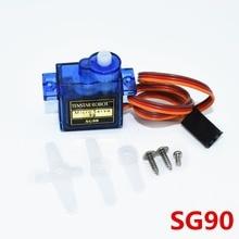 Mini Micro Servo para coche de control remoto, 100 Uds. SG90, 9g, para helicóptero de radiocontrol, avión, Coche