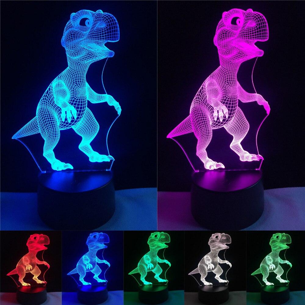 ⊱Nueva unique dragón dinosaurio LED atmósfera visual colorido noche ...