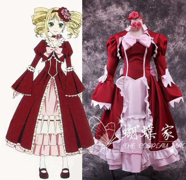 Black Butler Elizabeth Party Cosplay Costume Ciel Phantomhive fiancee cosplay costumes ball gown vintavge dress