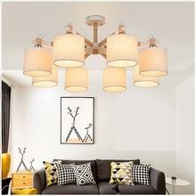 Modern LED Chandelier Lights Lamp For Living Room Lustre Chandeliers Lighting Pendant Hanging Ceiling Fixtures Modern wood Light