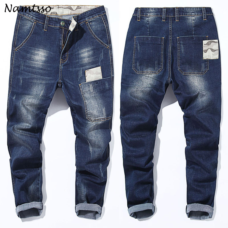2018 New Mens brand jeans Fashion Men Casual Slim fit Straight Stretch Feet skinny jeans men hot sell male trousers Big size