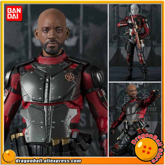 Anime Suicide Squad Original BANDAI Tamashii Nations S.H.Figuarts / SHF Exclusive Action Figure - Deadshot suicide squad vol 3 burning down the house rebirth