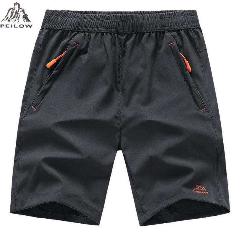 PEILOW été hommes Shorts de plage marque séchage rapide pantalons courts vêtements de sport Shorts Homme Outwear Shorts hommes taille L ~ 7XL 8XL 9XL