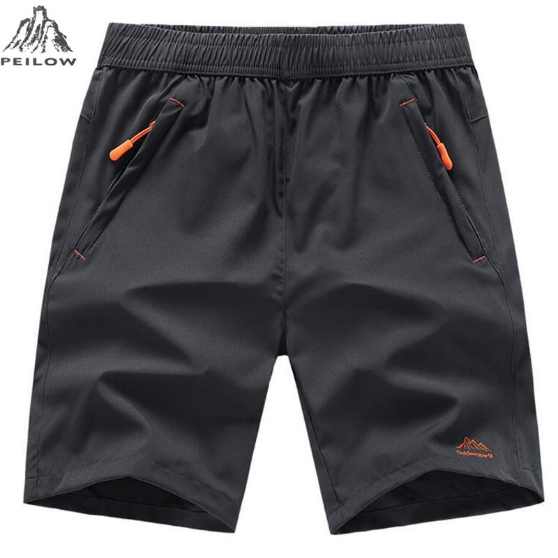 PEILOW Summer Men Beach Shorts Brand Quick Drying Short Pants Casual Clothing Shorts Homme Outwear Shorts Men Size L~7XL 8XL 9XL