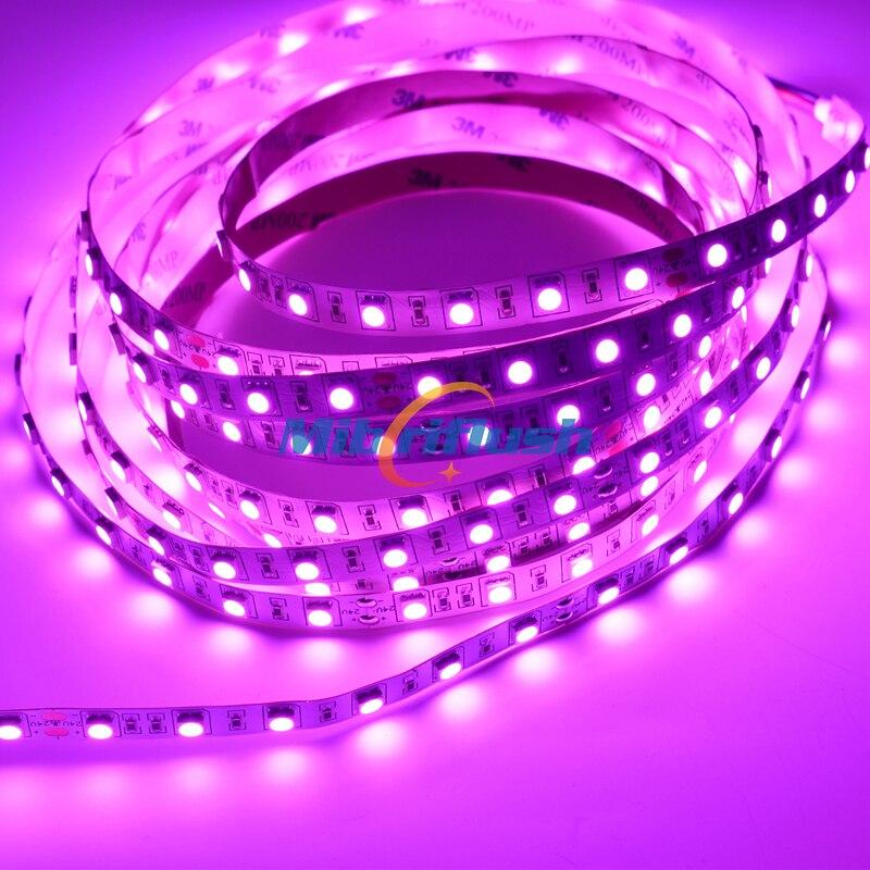 Купить с кэшбэком CRI>80 14.4W/M 21-23LM/led 10MM PCB 12V 60leds/M Color Changing IP20 Non-Waterproof SMD5050 LED Flexible Strip 24Vwarm white/RGB