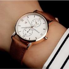 Yazole luminoso reloj de los hombres de primeras marcas de lujo de negocios hombre reloj de cuarzo reloj de pulsera de ocio de moda de cuero reloj de cuarzo relogios