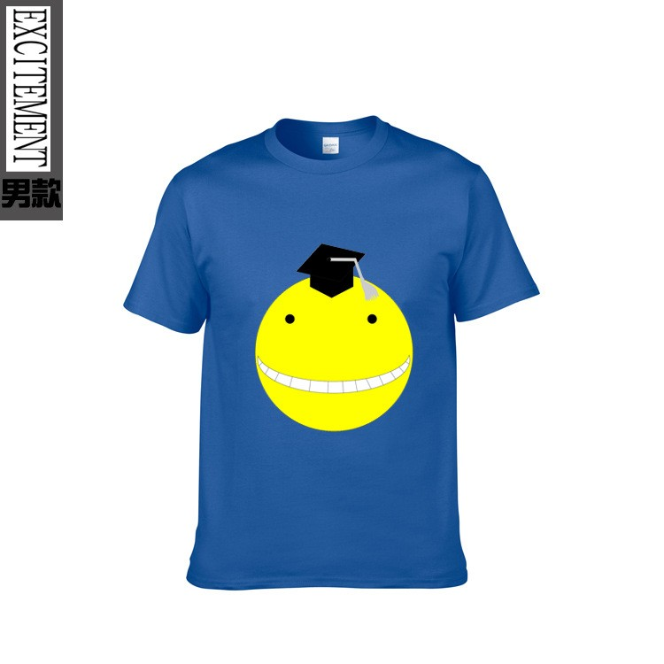 Japanese Anime Assassination Classroom Printed T-shirt 6 Colors Summer Funny Men's Print Tees Tops Short-sleeve High Quality