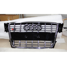 S4 Style chrome Front Bumper Grill Grille Car styling For Audi A4 B8 2009~2012
