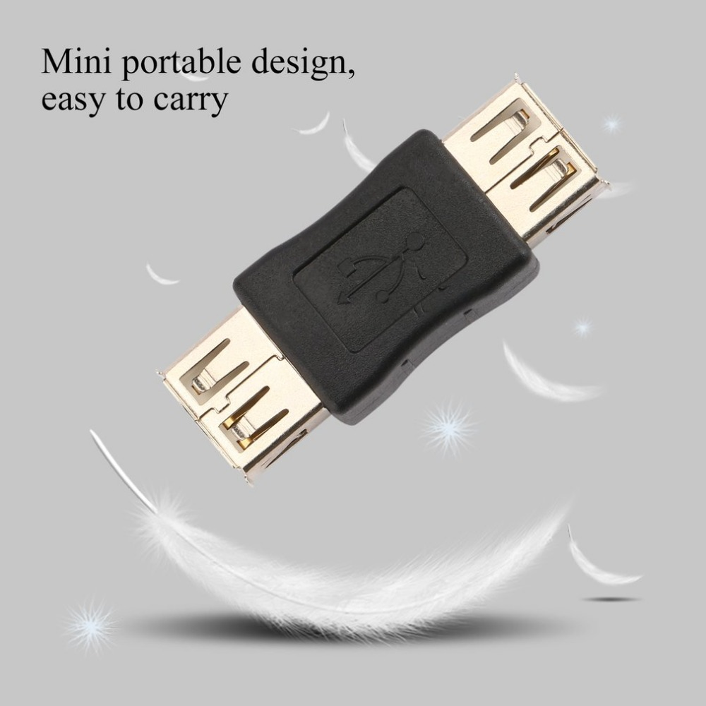 USB 2.0 Type A Female To Female Coupler USB Adapter Connector To F / F Converter Application In Lighting