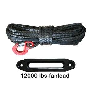 Image 1 - 10mm * 30 m สังเคราะห์สาย hook & 12000lbs black hawse fairlead สำหรับ 4wd recovery