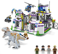 TS8000 jurassic world 2 Movie Violent Brutal Dinosaur Indominus Rex Breako Jurassic Dinosaur World Building Block Toys