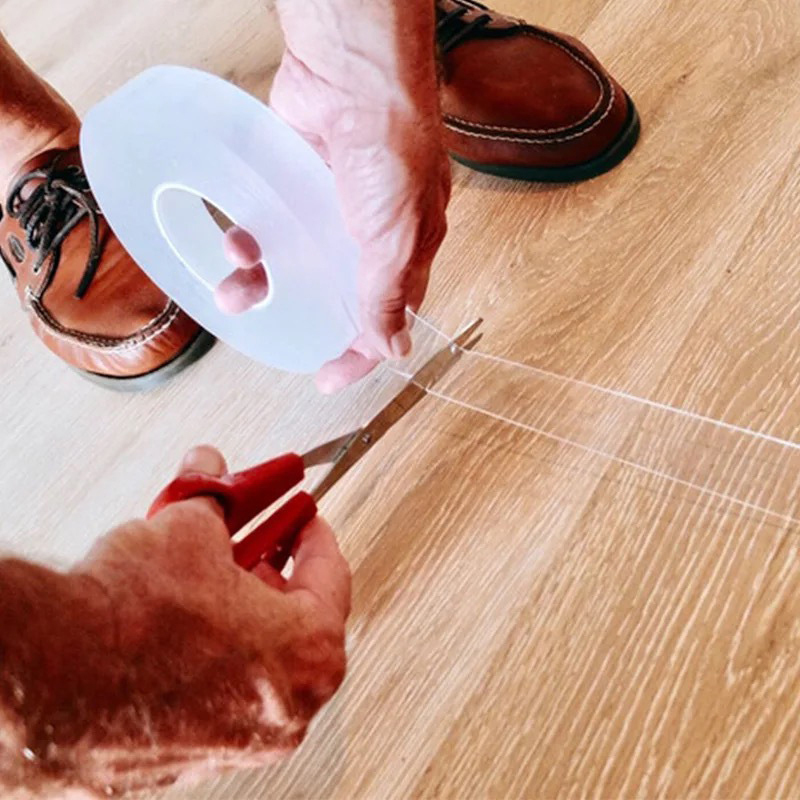 Nano-Traceless Magic Tape Transparent Double Sided Tape Household Wall Hangings Adhesive Glue Tapes Anti-slip Fixed Adhesive 1M