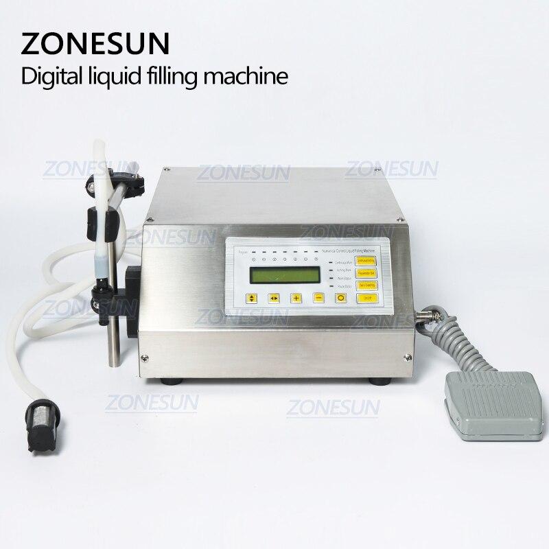 ZONESUN 5-3500 ml Machine de remplissage liquide de boisson molle d'eau contrôle numérique GFK160 eau huile parfum lait petite bouteille de remplissage - 5